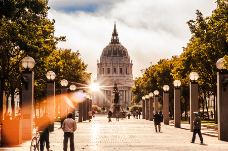 The passage to San Francisco city hall. Editorial