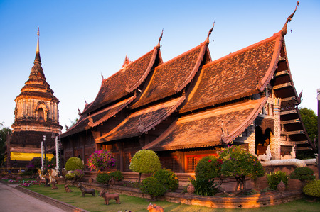 Chiang Mais temple, Wat Lok Molee, Thailand. Lanna architecture style. Stock Photo