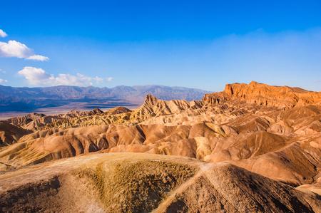The bizarre view of Zabriskie Point, Death Valley National Park. California. Stock Photo