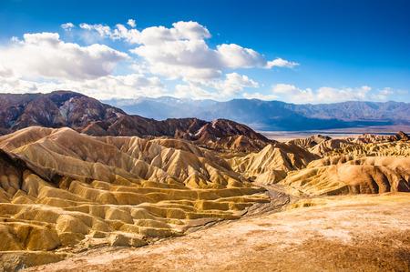 The bizarre view of Badland, Zabriskie Point, Death Valley National Park. California.