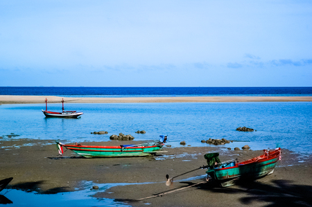 Three Fishing boats on the beach