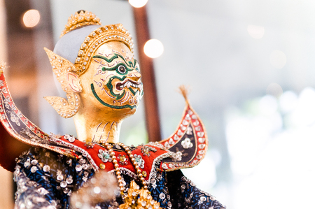 Thai puppet (Hun Lakorn Lek) From the story of Ramayana epic poem.
