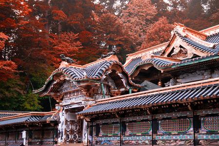 Detail of Nikko Toshogu Shrine, Tochigi, Japan Фото со стока