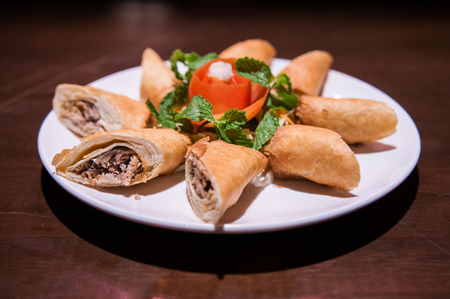 Tuna spring rolls, a great side order at asian restaurants