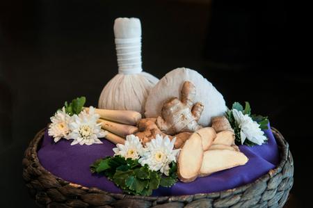 Thai herbs - Thai spa ingredient - lemongrass, zingiber cassumunar