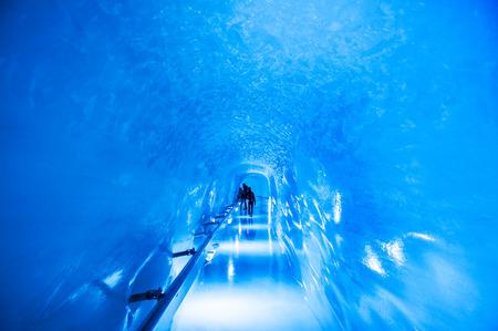 Jungfrau Ice Palace, the ice cave under Jungfrau peak.