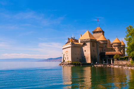 Chillon castle, Lake Geneva near Montreux, Switzerland