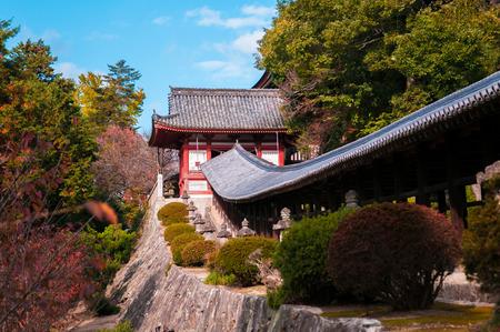 Famous Kibitsu Jinja shrine in Okayama, Japan