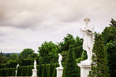 Marble Statues in Garden of Versailles palace 写真素材