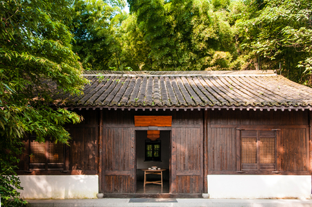 AUG 18, Hangzhou, China : Old Chinese style country house in the small village called