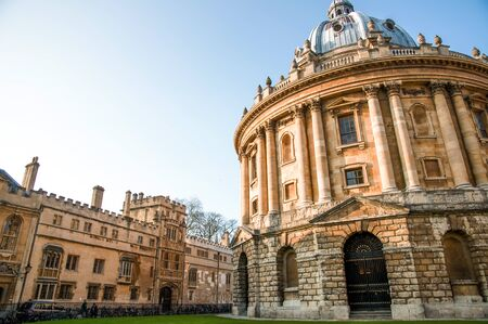 MAR 2, 2011 OXFORD, UK : Dome Architecture of Radcliffe Camera, 18th-century, Palladian style academic library. Oxford university Editorial