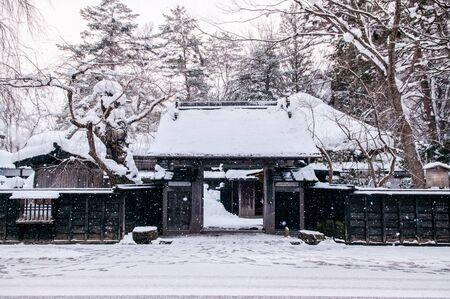 冬の角館 - 秋田 - 日本町に積雪します。