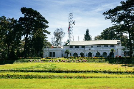 NOV 21, 2012 Baguio, Phillippines : The Mansion House is the official summer palace of the President of the Philippines