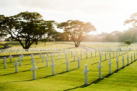 NOV 22, 2012 Manila, Philippines : Manila American Cemetery and Memorial. the largest number of graves of any cemetery for U.S. personnel killed during World War II. Sajtókép