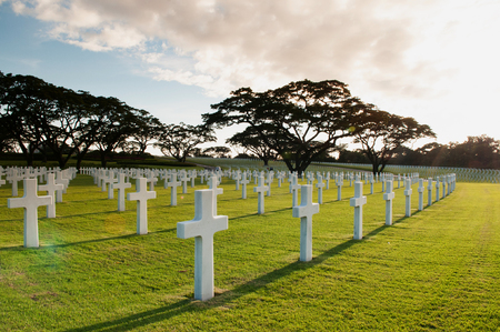 NOV 22, 2012 Manila, Philippines : Manila American Cemetery and Memorial. the largest number of graves of any cemetery for U.S. personnel killed during World War II. Editorial