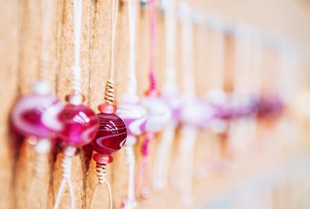 Multicolored glass beads, Beautiful Glass beads close up shot