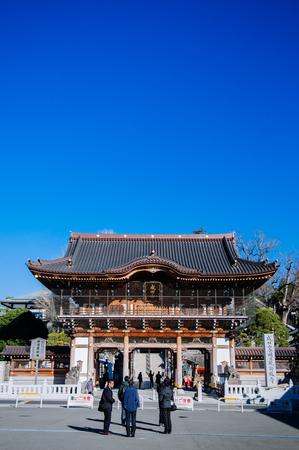 DEC 12, 2012 Narita, Chiba, JAPAN - Somon gate of Narita san Shinsho ji temple