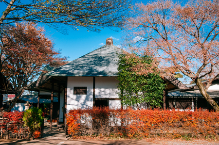 DEC 10, 2012 Omiya, Saitama, JAPAN - Beautiful old Japanese house in Bonsai village, called - Bonsai House of the Four Seasons -  Tourist rest house