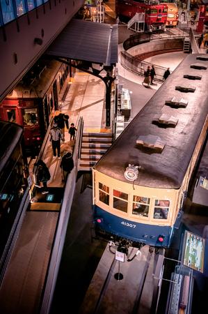DEC 10, 2012 Saitama, JAPAN - Old vintage train models exhibits in railway museum of Omiya. Editorial