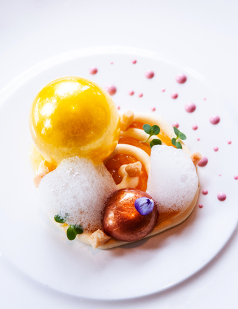 Molecular gastronomy creativity modern cuisine, beautiful creativity food decoration idea