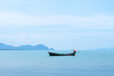 Beautiful peaceful beach of southern Thailand during rainy season in Khanom, Nakhon Si Thammarat Reklamní fotografie