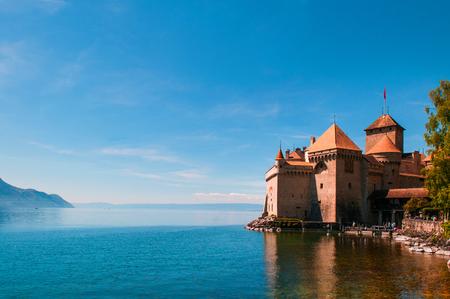 Chillon castle, Lake Geneva near Montreux, Switzerland