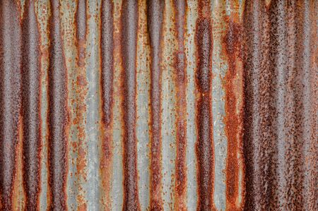 Rusted dirty decay zinc metal texture damage iron surface background 写真素材