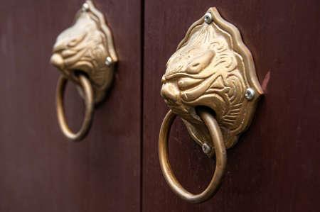 Chinese door handles knocker details