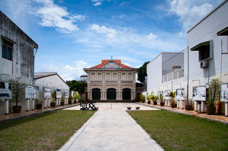 MAY 23, 2020 Phuket, Thailand - Old classic building of Phuket Thai Hua museum - Sini Portuguese and Peranakan cultural center in Phuket. 報道画像