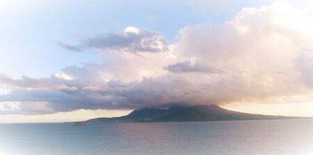 View of Nevis with Clouds