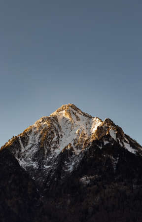 Close up shot of a mountain peak in Southern France