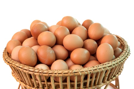 aliment: background of fresh eggs for sale at a market