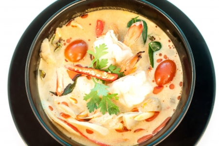 Tom Yum Goong - Thai hot and spicy soup with shrimp - Thai Cuisine  photo