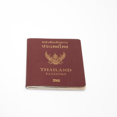 Thailand passport isolated photo