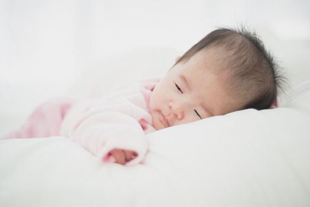 Asian beautiful newborn baby.