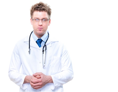 handsome male doctor with stethoscope Stock Photo - 17795053