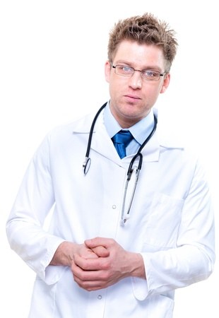 handsome male doctor with stethoscope Stock Photo - 17795062