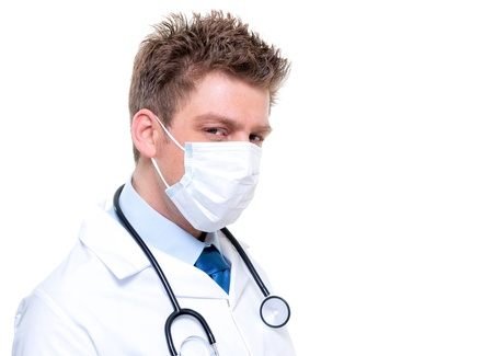Male nurse or doctor wearing surgical mask Stock Photo - 17794985