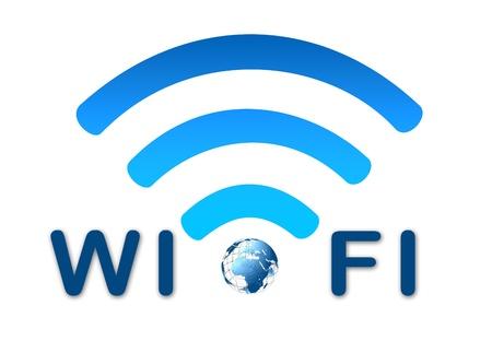 Wireless wifi network blue icon