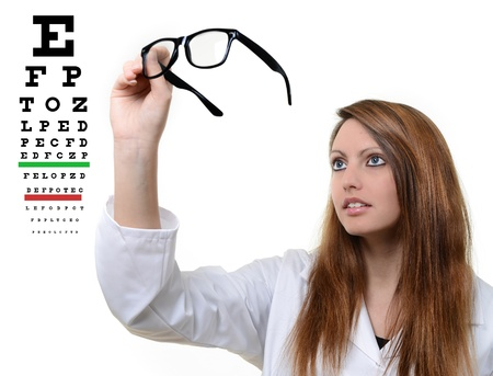 corrective: Pretty doctor with glasses