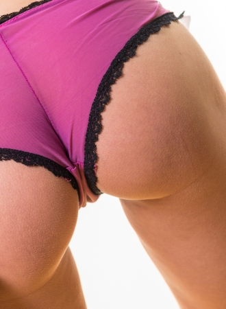 back view of attractive female with perfect buttocks Stock Photo - 18180970