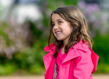 pretty little girl: Summer natural portrait of a happy pretty little girl