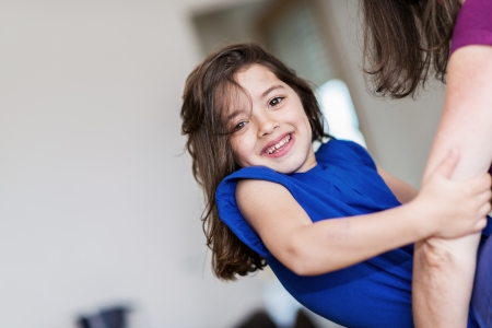 complicity between a very cute little girl and her mother Stock Photo - 23496744
