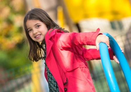 beautiful portrait of pretty girl  in a yard for child Stock Photo - 23507645