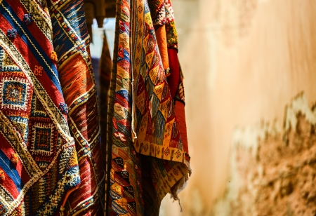 moroccan carpet store in Essaouira, Morocco