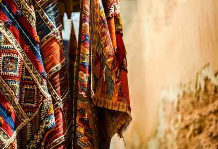artisanry: moroccan carpet store in Essaouira, Morocco