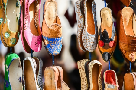 Colourful Moroccan slippers, Marrakesh photo
