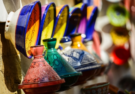 Traditional moroccan earthenware at Essaouira