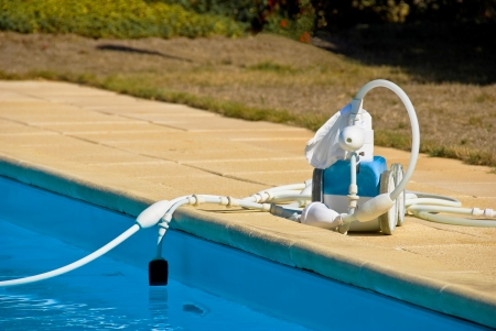robot pool Standard-Bild