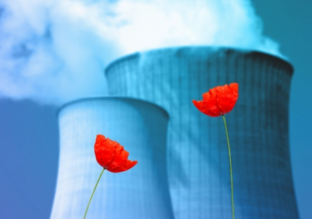 nuclear power plants and ecological metaphor Stock Photo - 24611349